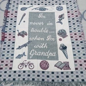 Other - WOVEN TAPESTRY 💯% COTTON GRANDPA💗THROW